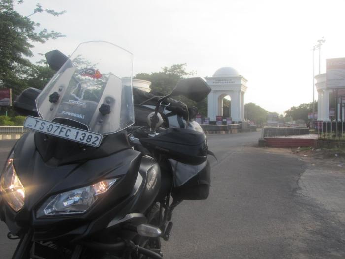 kawasaki versys 650, pondicherry