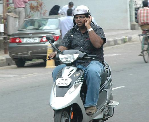 mobile phone while riding/driving