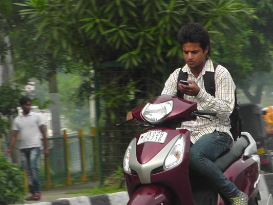 talking on phone while riding driving